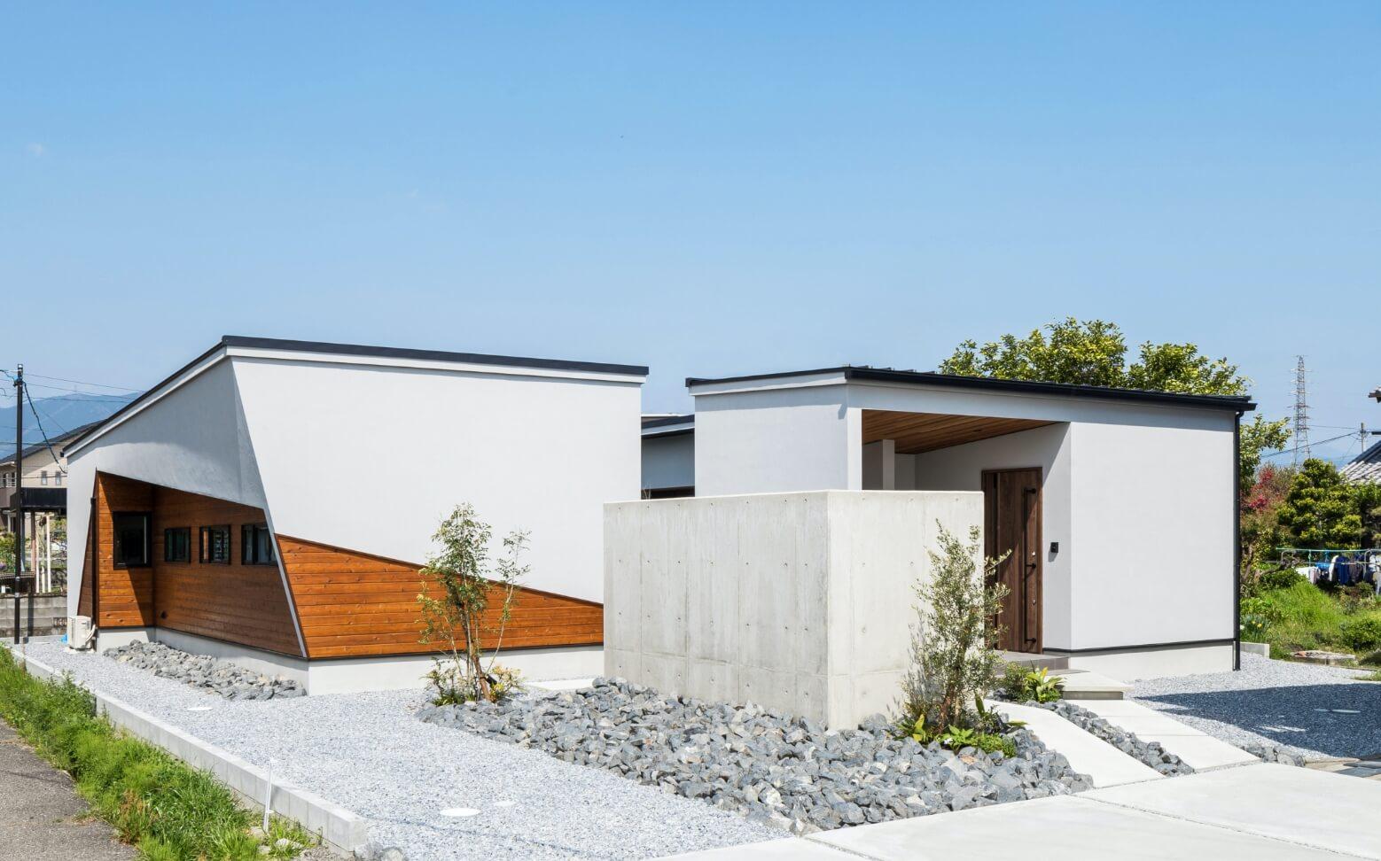 個性的でスタイリッシュな森住建住宅の外観
