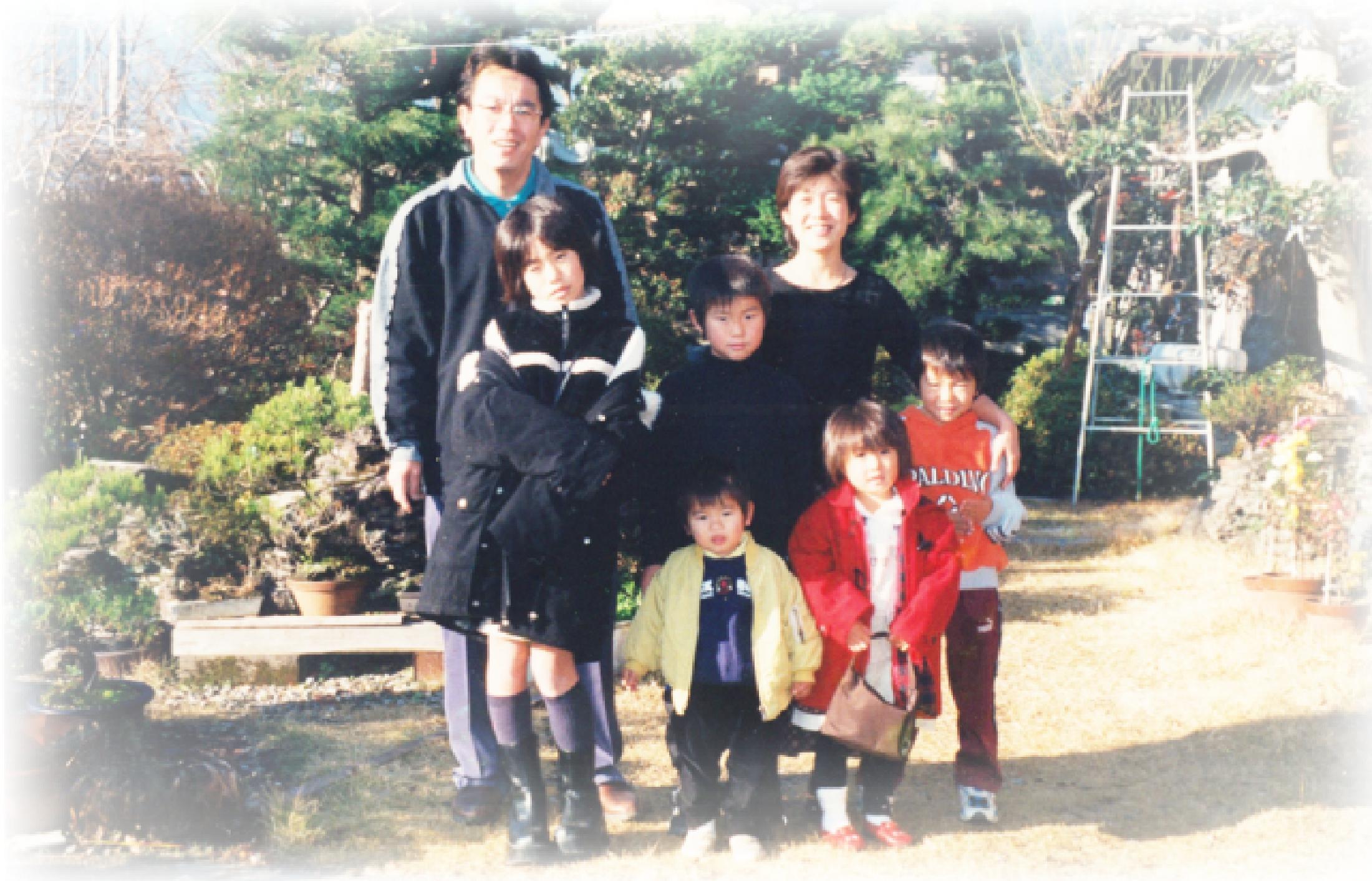 株式会社森住建代表取締役 森浩幸の家族写真