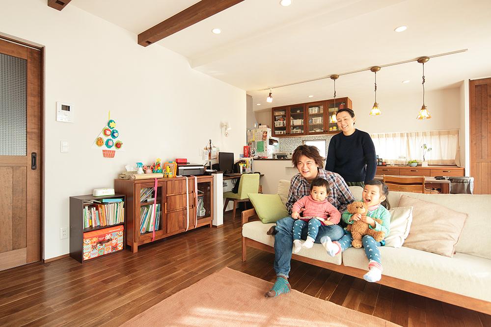 本当に住みたいと思えるオーダメイドの家で、暮らす楽しみが増えました