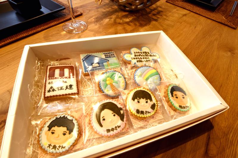 <p>新居完成時には、奥様から担当者にクッキーが贈られました。</p>