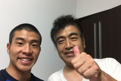 がんばれ息子!