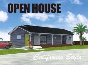 カリフォルニアスタイルの『平屋のお家』完成見学会