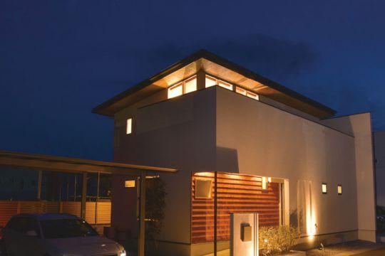 浮き屋根の家